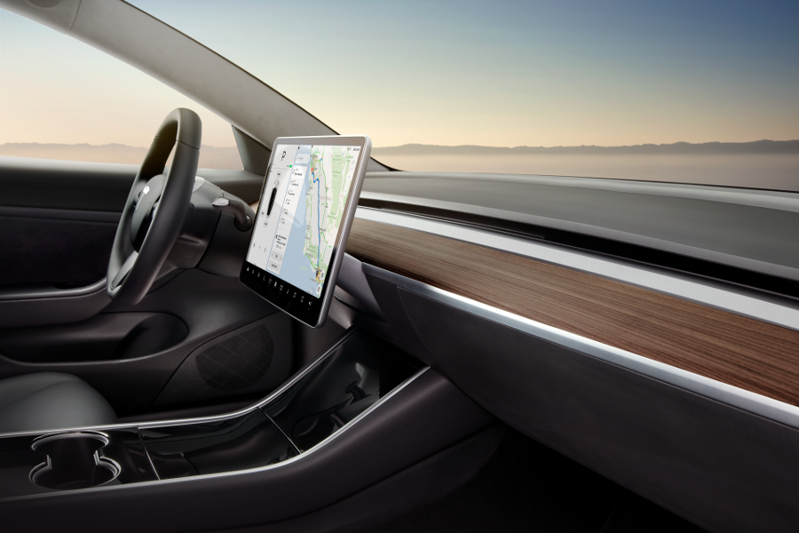 Model 3 Interior Dash - Desert