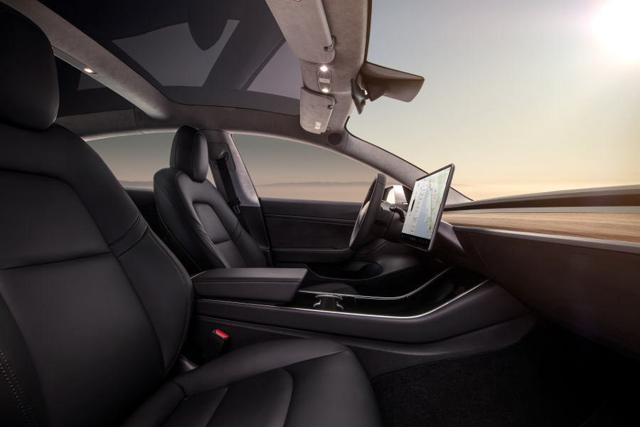 Model 3 Interior Dash - Profile View