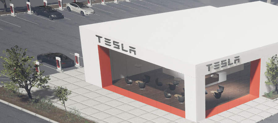 Tesla Super Charging Lounge