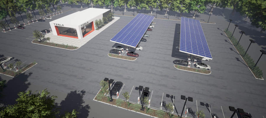 Tesla Super Charging