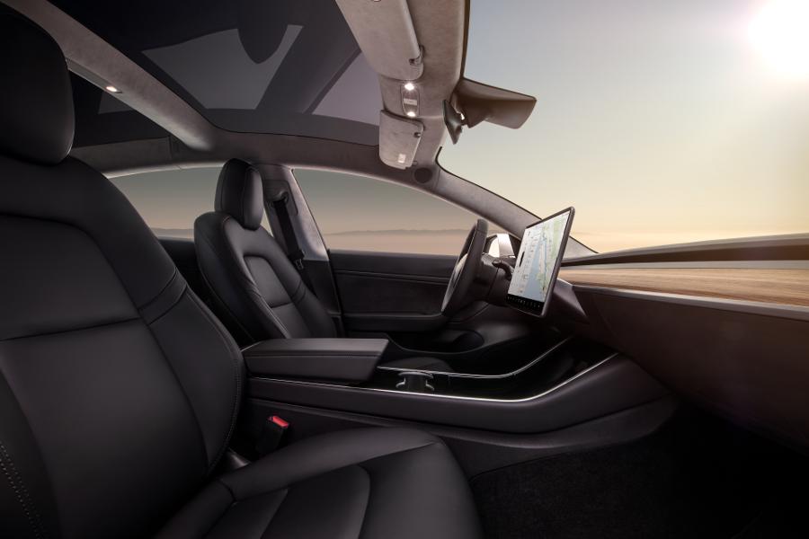 Model 3 Interior Dash - Profile View