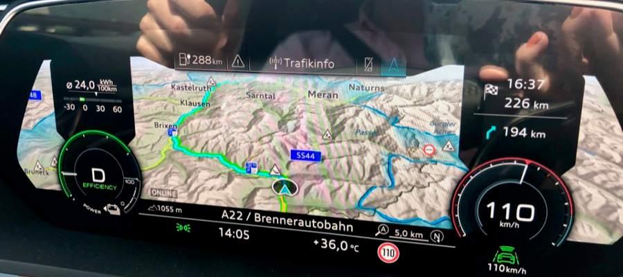 36 grader varmt i Brennerpasset mot Italien.