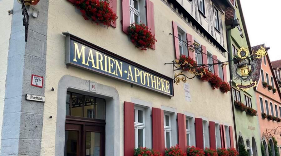 Vackra fasader överallt i centrala Rothenburg