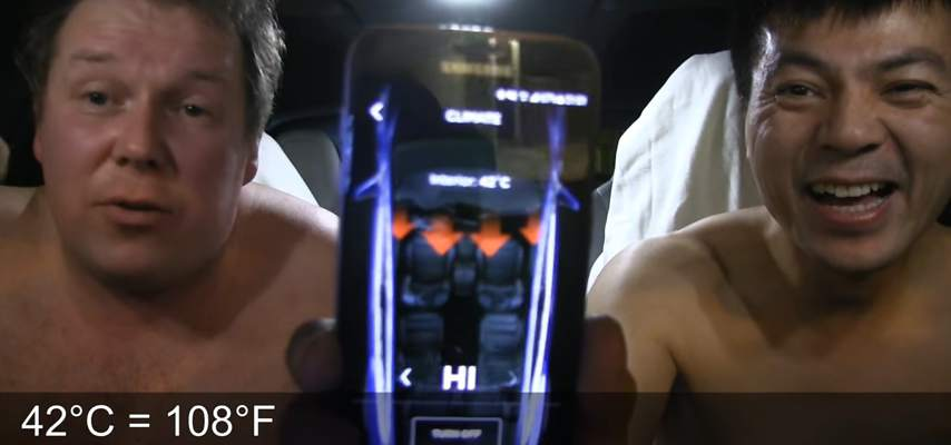 Tesla Model X sauna