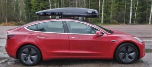 Den bakåtvända takboxen gav exakt samma förbrukning som körning med enbart takräcken.