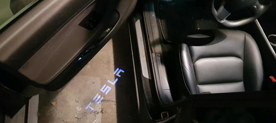TeslaDoorLamp